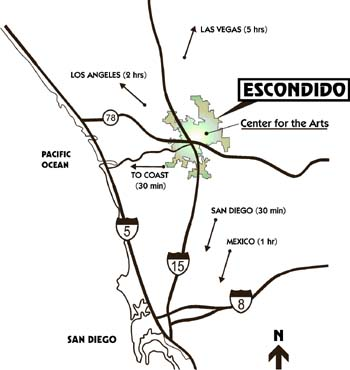Location Map of Escondido, CA