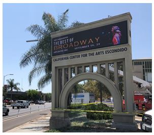 August 16 2018 city of escondido the art centers marquee gets a facelift the art centers marquee on valley parkway received a much needed upgrade this week contractors city crews solutioingenieria Choice Image