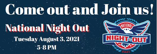 May be an image of text that says 'Come out and Join us! National Night Out Tuesday August 3, 2021 5-8PM NATIONAL NIGHT OUT Escondido Police Department Invites you to fun night with FREE family friendly activities! Help our community and public safety come together in peace and unity. Community Resources Opportunity Drawings Contests Entertainment Safety Demonstrations Food Family Time and so much more! East Valley Community Center Valley Pkwy Escondido, .92027 For more information: Carolina Plancarte or Yesenia Martinez COMPACT  (760)839-4515 cplancarte@educationcompact.org /martinez@educationcompact.org Robert Ơ' Donnell- EPD Special Events Coordinator (60839-47/rendnel@escondid.ro COMPACT Hàர EGRIP'