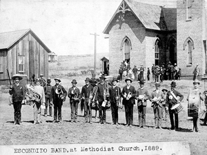 Escondido Band, at Methodist Church, 1889 - Pioneer Room