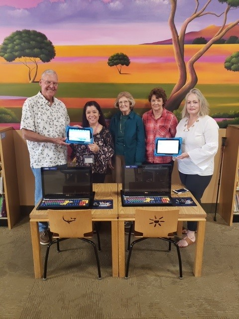 Library Foundation Donates AWE Stations
