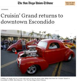 Cruisin' Grand Newspaper Article