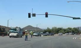 Bear Valley Parkway Traffic Light